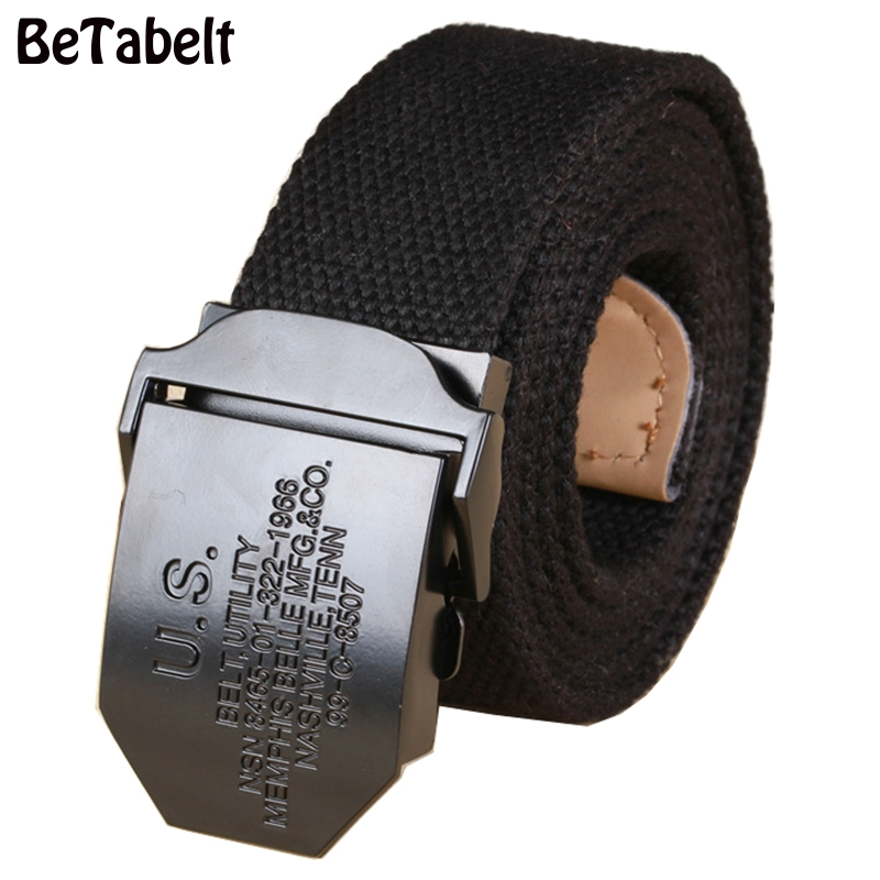 BT Factory direct US series smooth buckle thicker canvas belt wholesale mens belt casual belt spot explosion models