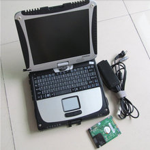 Toughbook CF19 with one warranty Car Diagnostic laptop CF 19 with touch & rotate screen for mb Star C4 hdd 2017.05v