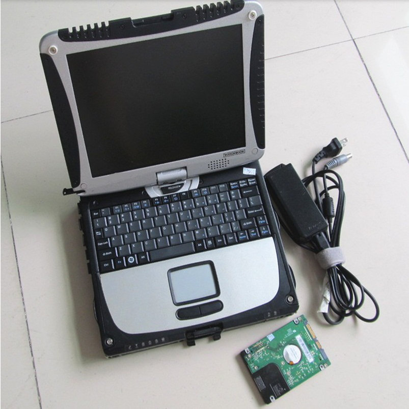 Toughbook CF19 with one warranty Car Diagnostic laptop CF 19 with touch & rotate screen for mb Star C4 hdd 2017.03v