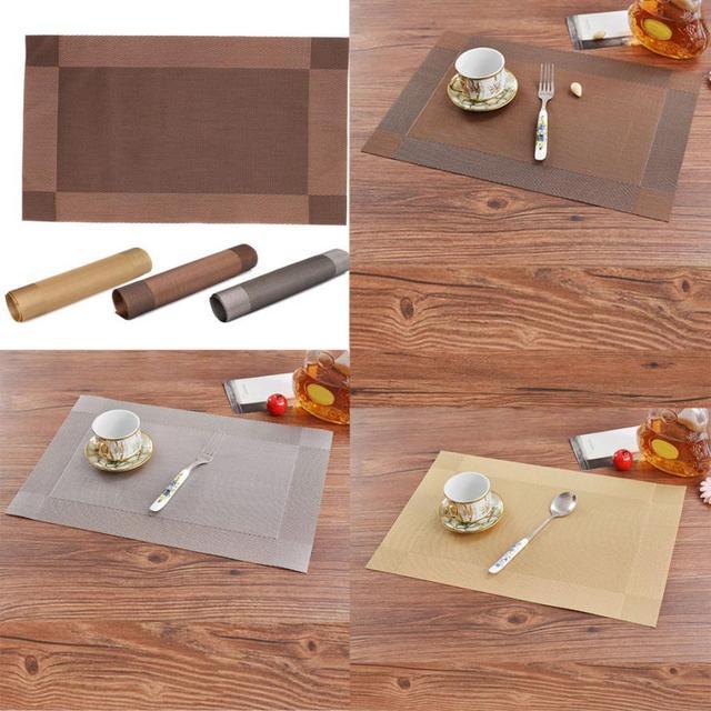 1pcs pvc placemat bar mat plate mat table mat set kitchen hot pads for coffee shop - Kitchen Hot Pads