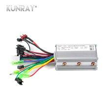 KUNRAY 24 V 36 V 48 V 350 W Бесщеточный контроллер для электрических для велосипедов и скутеров Скорость БКЭПТ 6 MOSFET с Зал обратный D26