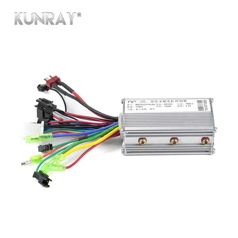 KUNRAY 24V 36V 48V 350W Brushless Controller For Electric Bike Bicycle Scooter Speed BLDC Motor 6MOSFET With Hall Reverse D26