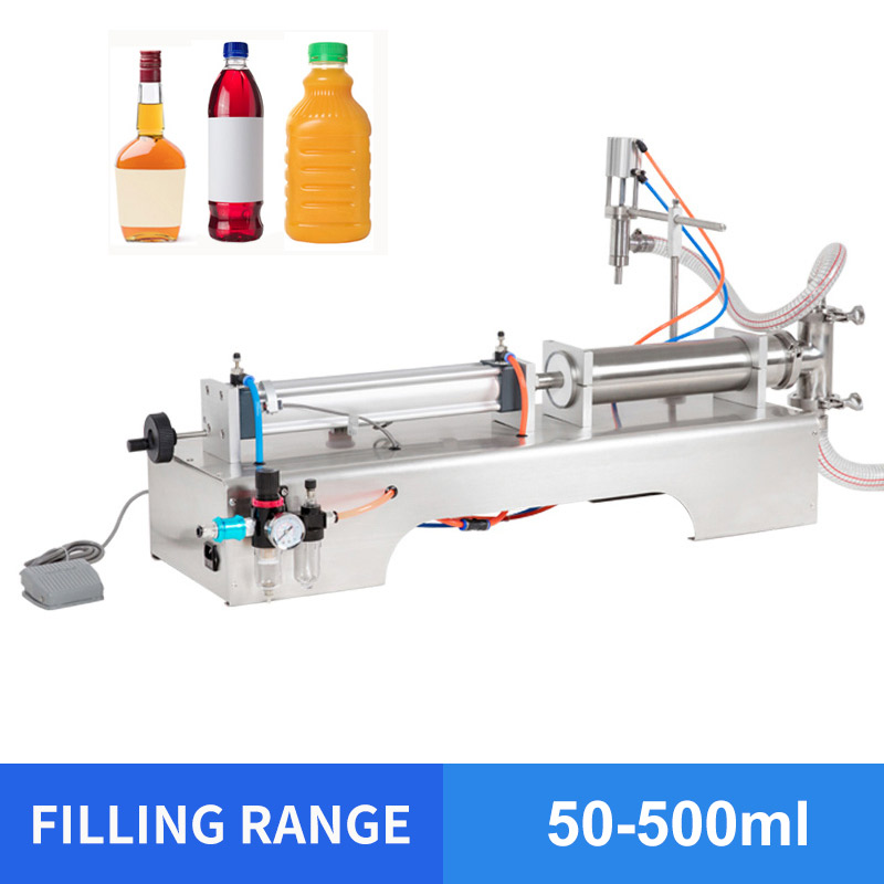 YTK 50-500ml Single Head Liquid Softdrink Pneumatic Filling Machine