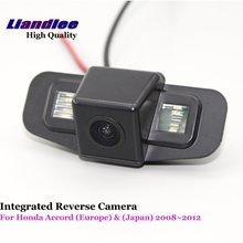 Liandlee For Honda Accord (Europe) & (Japan) 2008~2012 Car Reverse Camera Rear View Backup Parking Camera / High Quality new high quality rear view backup camera parking assist camera for toyota 86790 42030 8679042030