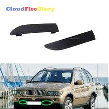 CloudFireGlory для BMW X5 E53 2000-2003 пара левый и правый передний бампер решетка буксировочный крюк крышка L R 51118250413 51118250414
