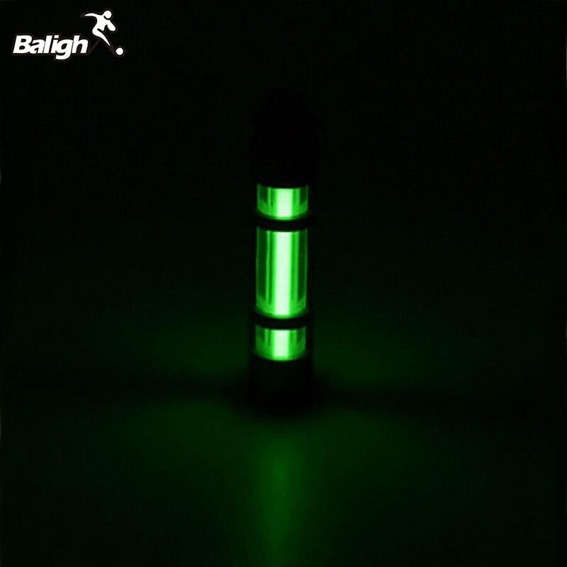 Automatique Lumière 25 ans Titane Tritium Alliage Porte-clés Tube Fluorescent De Sauvetage D'urgence Alliage Lumières 500UL