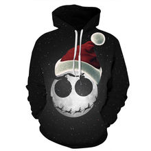 Men/Women 3D Sweatshirt Snowman Printed Autumn Winter Casual Loose Long Sleeve Hooded