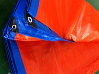 2mX3m Blue And Orange Outdoor Commodity Covered Canvas Waterproof Cloth Rain Canvas Truck Tarpaulin