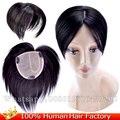 12*12 см 100% реальные Человеческие волосы топперы мужские тупею замена системы тонкий шелк кожи руки связали индийский реми парик женщин парики