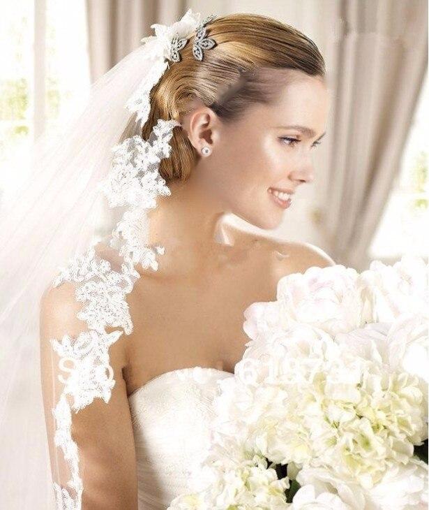 White Silk Border New Wedding Head Long Scarf Bride Veil Bride Plastered Wedding Gown Cathedral