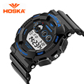 S-Shock Mens Military Watch For Men Sport Watch Luxury Brand HOSKA Analog Quartz And LED Digital Outdoor Waterproof Watches