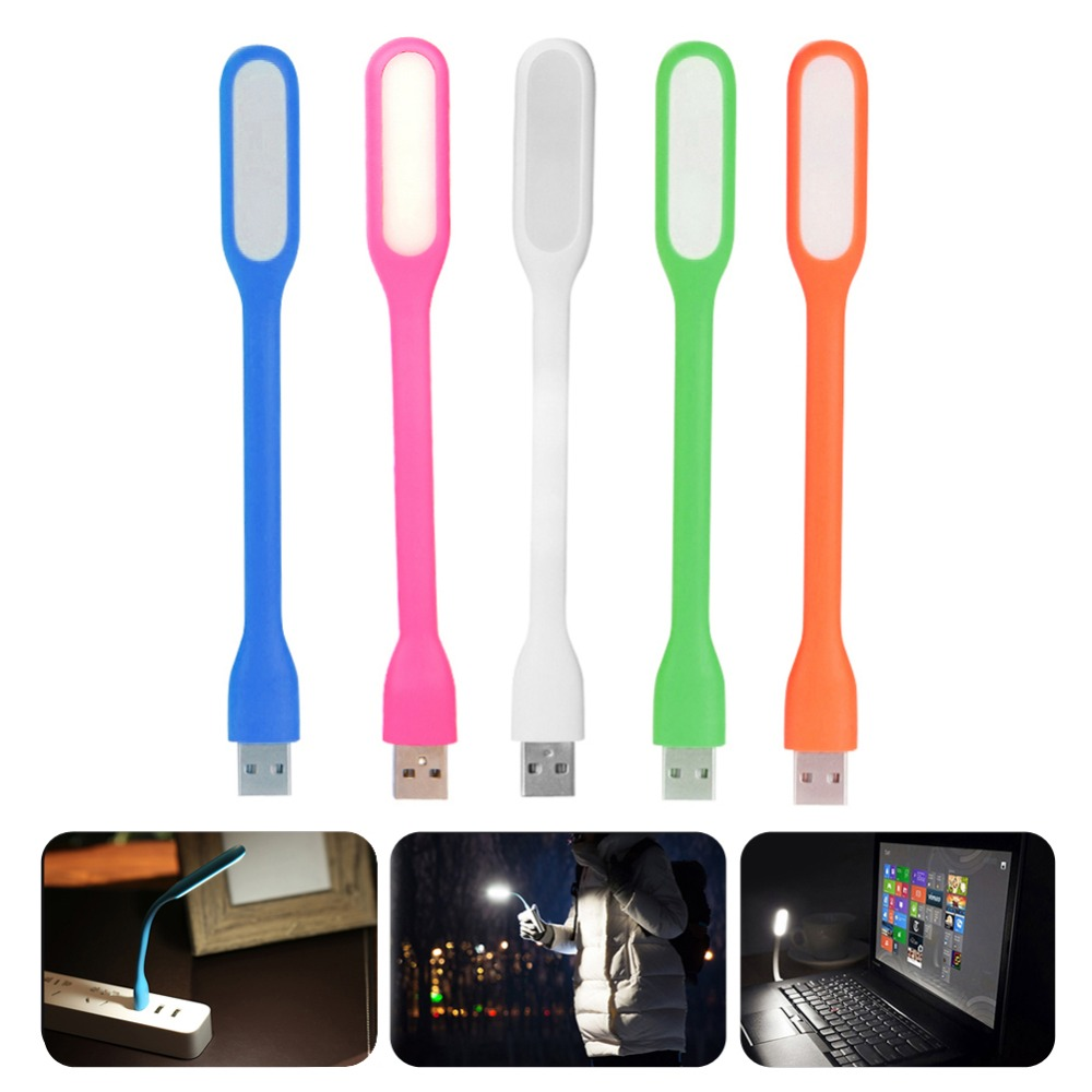 Mini USB Light Ultra Bright Flexible 5W LED Book Lights USB Night Lamp With Power Bank Computer Charging image