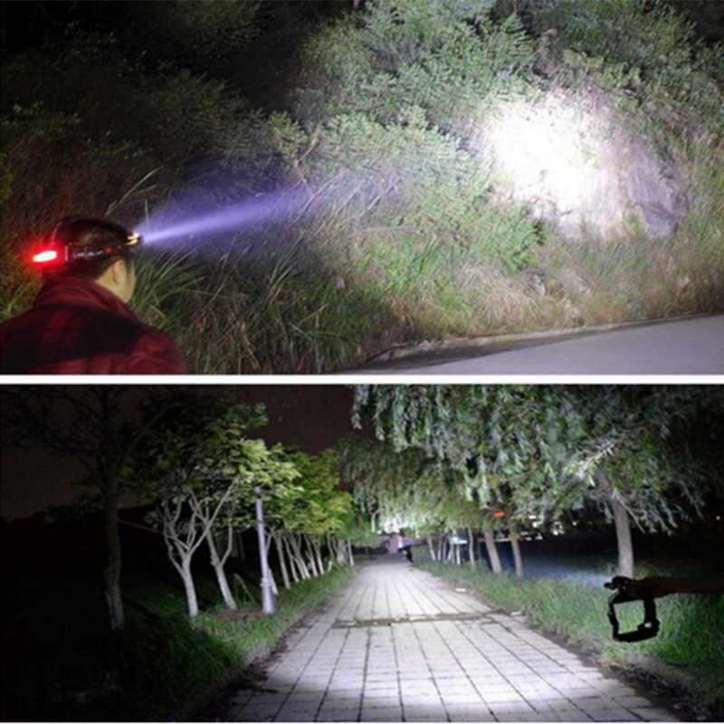 3T6 Weiß Gelb licht cree xml t6 led scheinwerfer wiederaufladbare stirn scheinwerfer head light taschenlampe wasserdichte