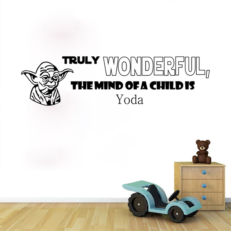 Star Wars Wall Decals Truly Wonderful The Mind Of A Child Is Yoda