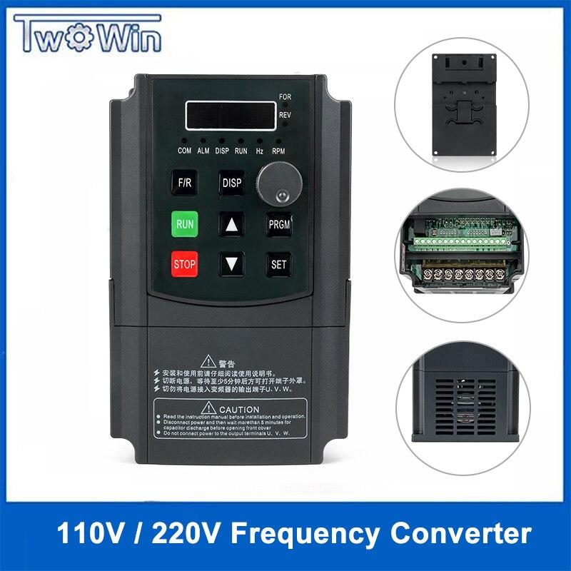0 75 kw 1 5kw 2 2kw 220V AC Frequency Inverter single phase input 3 phase