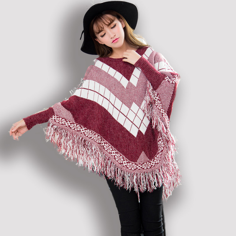 Knitting Pattern Poncho With Collar : Online Buy Wholesale knitting patterns capes from China ...