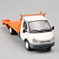 1 43 Scale Russia Collection Trailer Truck Alloy Diecast Car Model Car Kids Toys Brinquedos Collectible