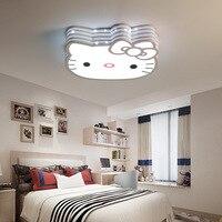 Hellokitty Kat Kinderkamer Plafondlamp Roze Cartoon Slaapkamer Lamp Smart Lamp Met Afstandsbediening Lamp 30W Energie saving|Plafondverlichting|   -