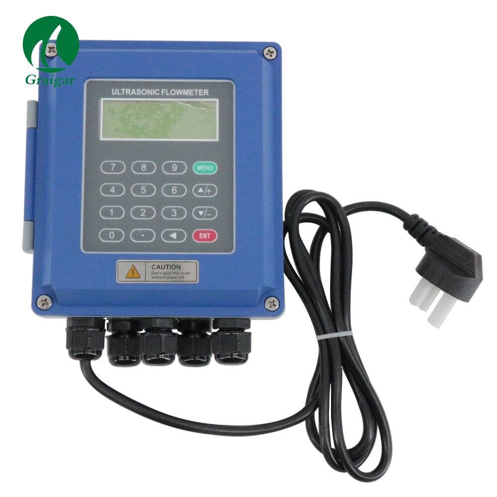 Digital Ultrasonic Medidor de Fluxo de medidor de Vazão de Água Montado Na Parede Braçadeira No TM-1 TUF-2000B