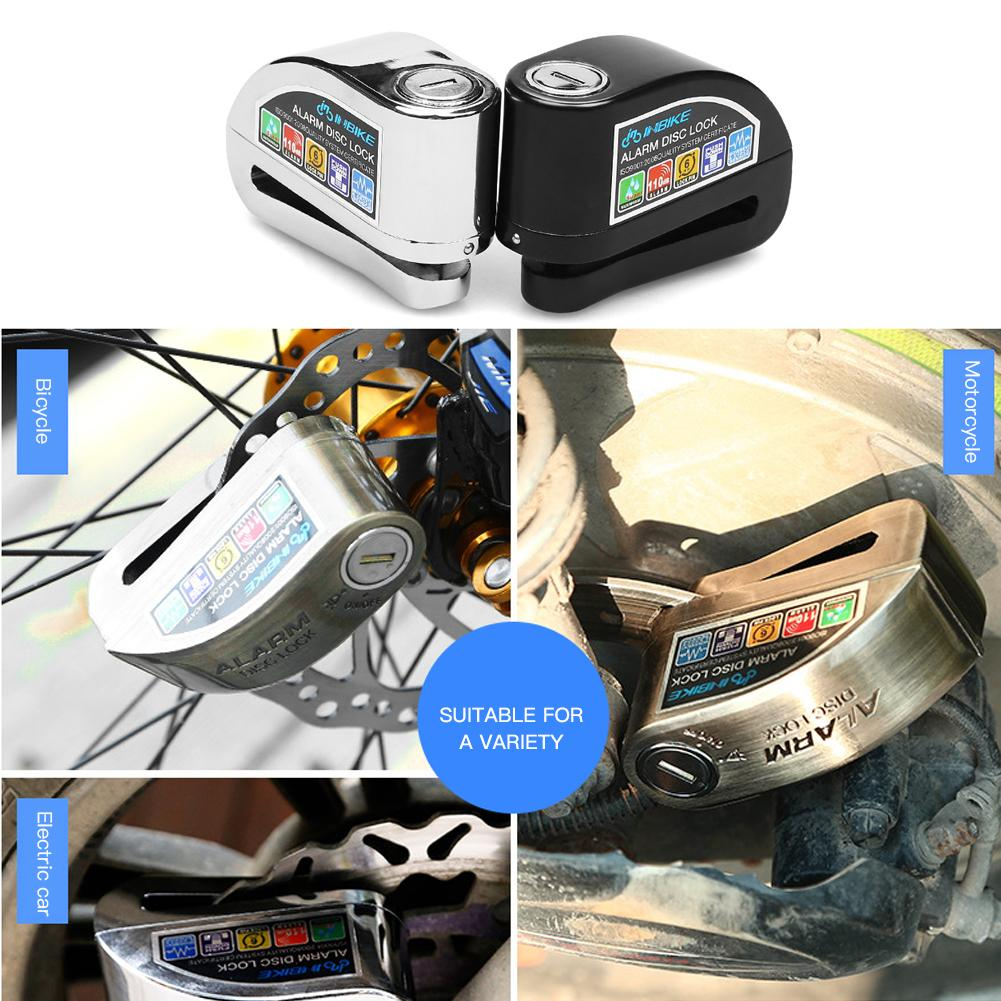 Anti-Theft Lock Electric Car Motorcycle Alarm Disc Brake Lock Burglar Alarm Disc Brake Lock Bicycle Motorcycle Universal