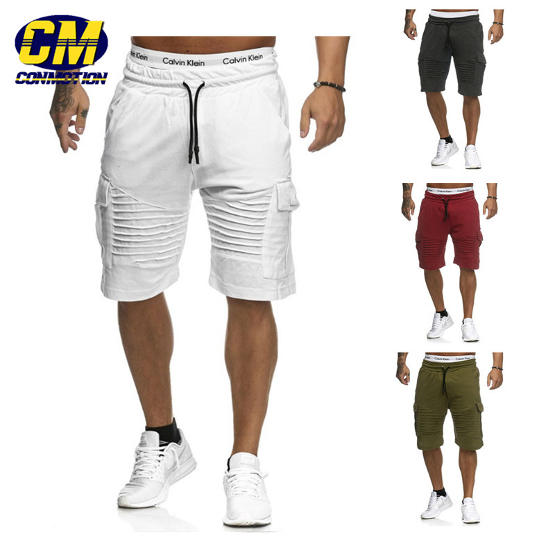 Men's Fitness Sportswear Pure Color Casual Shorts Latest Fashion Jogger Shorts