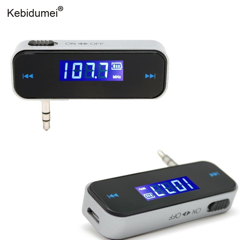 Wireless LCD Display Car FM Transmitter 3.5mm Jack For iPod iPhone 5 6 7 US