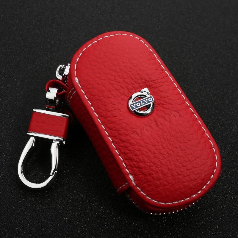 GIFT-for-Volvo-XC60-S80L-XC90-V40-V60-S60L-C30-Leather-Car-Key-Wallet-key-Case (1)