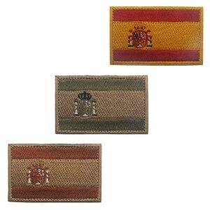 Image 2 - רקמת תיקון ספרד דגל צבא צבאי טקטי תיקוני סמל אפליקציות ספרדית דגלי גומי PVC תגים רקומים
