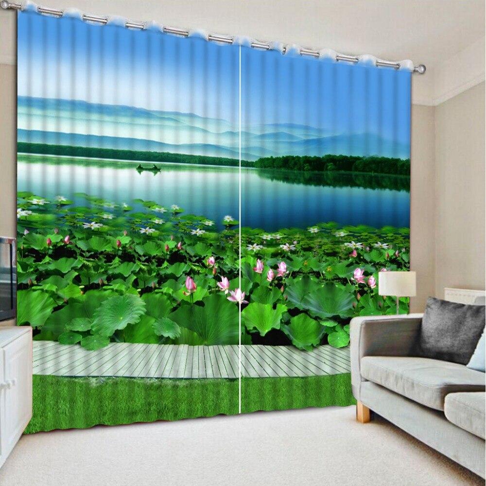 커튼 거실 창 연꽃 잎 홈 커튼 장식 창 커튼 거실 홈 침실 장식