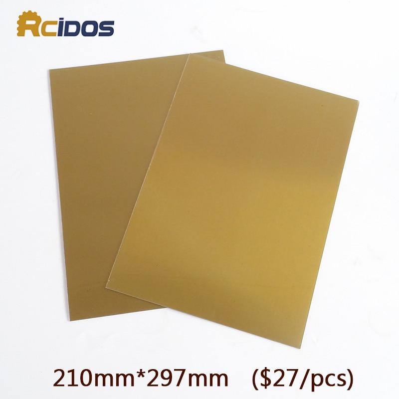RCIDOS A4 víz mosható pad nyomtatáshoz Hot Foil Stamping CliChe UV expozíciós fotopolimer lemezforma készítése, $ 27 / db