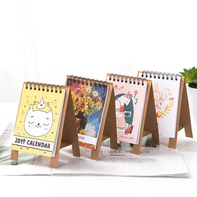Excellent 2019 Cute Cartoon Animals Series Calendars Mini Table Desk Calendar Office Work Learning Schedule Periodic Planner Stationery Beutiful Home Inspiration Truamahrainfo