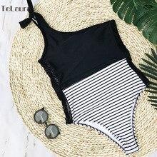 2018 Sexy One Piece Swimsuit Women Swimwear Lace Monokini Padded Swim Suit Bodysuit Bathing Suit One Shoulder Beach Wear Female