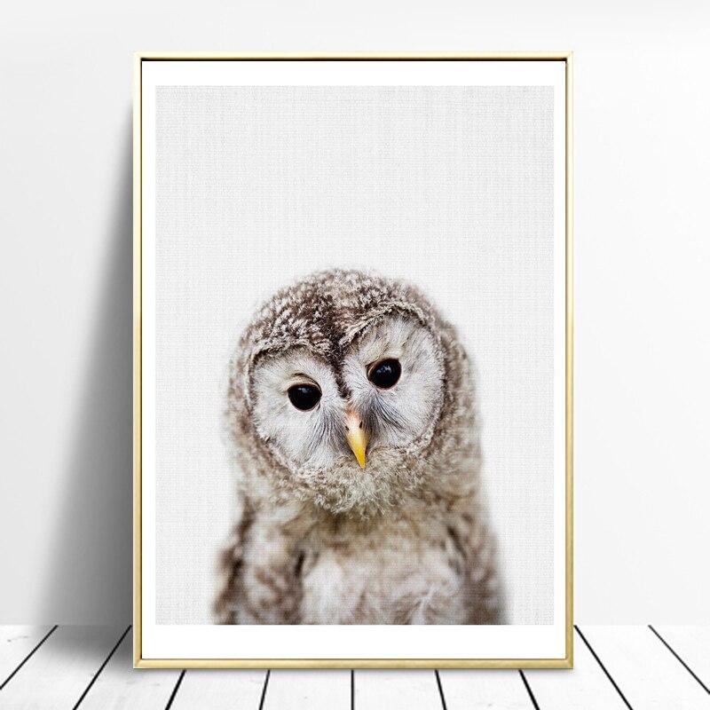 Panda Canvas Painting Nursery Wall Art Owl Posters Prints