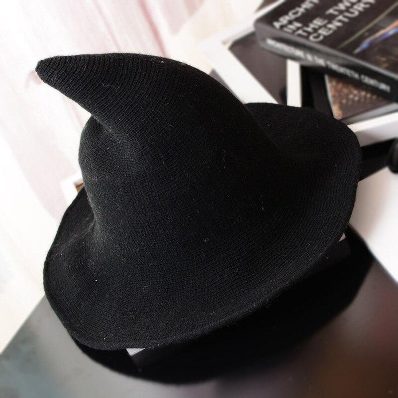 Sombrero de bruja moderno 2018 hecho de lana de oveja de alta calidad sombrero de bruja de Halloween