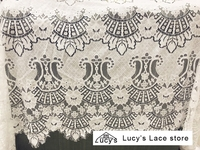 Quality women clothing sewing lace fabric 1.5x3 meters/piece! Eyelash Scallop edging lace material best selling in Aliexpress!