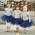 2016 de Los nuevos niños ropa Del Partido de la Princesa tutú de la falda hecha a mano Faldas baby girl mini vestido del tutú de baile