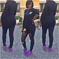 2016 Autumn Women Bodycon Jumpsuit  Women Set Tracksuits Long sleeve Bodysuit Fitted Jumpsuits