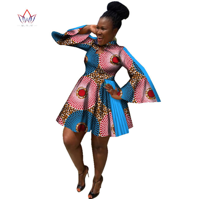 Sexy Print African Dresses for Women Plus Size Elegant Long Butterfly Sleeve  a line Casual Dress Traditional Clothing wy2315 7225d0ce89