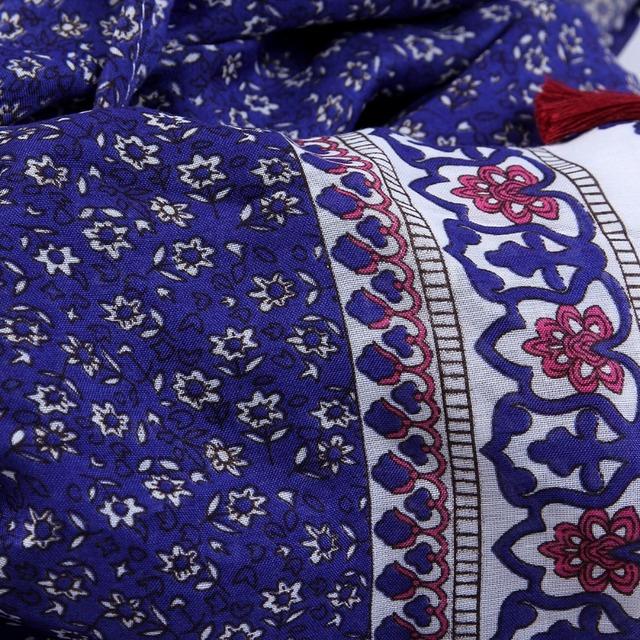 Bohemian Orchid Tassels Scarves | Shawl & Wraps