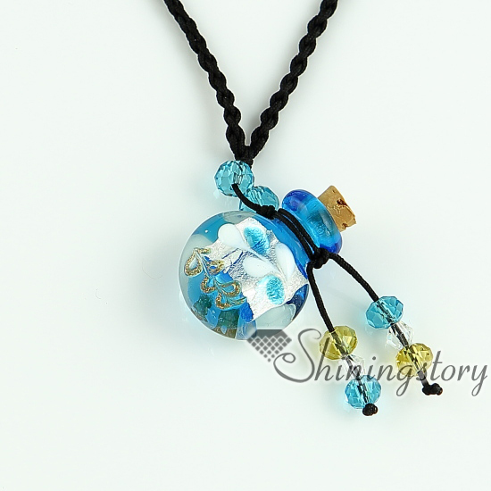 Essential oil diffuser necklaces empty small glass vial necklace essential oil diffuser necklaces empty small glass vial necklace pendants wholesale supplier italian murano glass jewelry in pendants from jewelry aloadofball Images