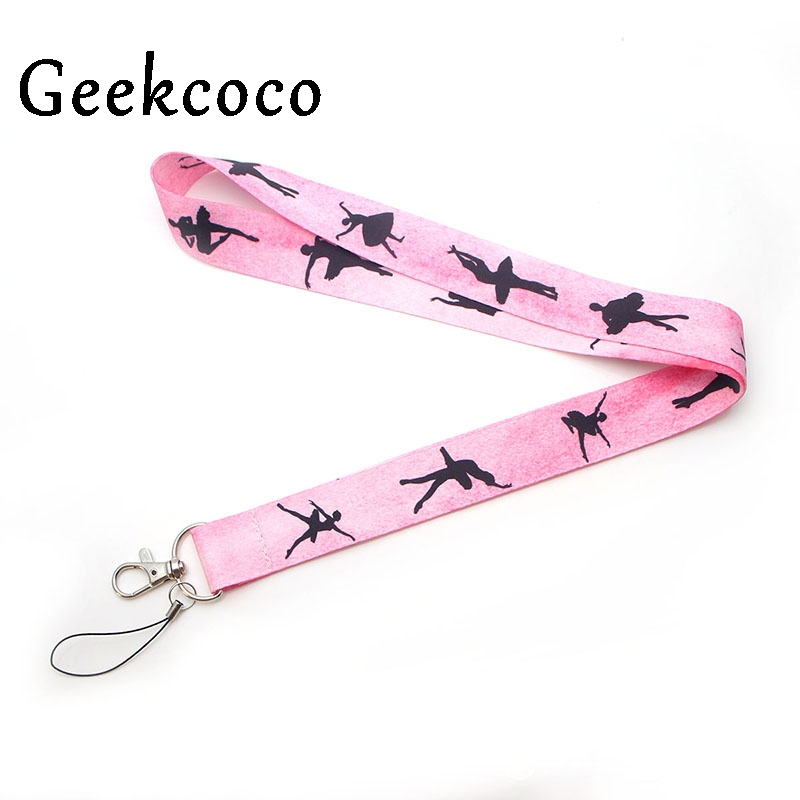 Ballet Girls Dance Keychains Accessories Safety Breakaway Mobile Phone USB ID Badge Holder Keys Straps Neck Lanyard Camera J0258