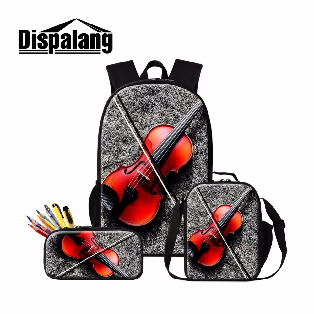 Dispalang Violin Print School Backpack for Girls Thermal Lunch Sack Bag for Children Kids Insulated Cooler Bag Bookbag MichilasDispalang Violin Print School Backpack for Girls Thermal Lunch Sack Bag for Children Kids Insulated Cooler Bag Bookbag Michilas