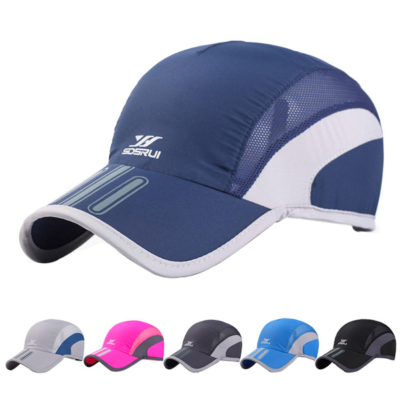 Men Mesh Cap Running Baseball Tennis Cap Hat Breathable Quick Dry Hat Bone Snapback Male Climbing Running Sport Hats