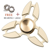 Hot EDC Hand Finger Toys Triangular Spinner For Autism And ADHD Metal Spinner Anti Stress Relief