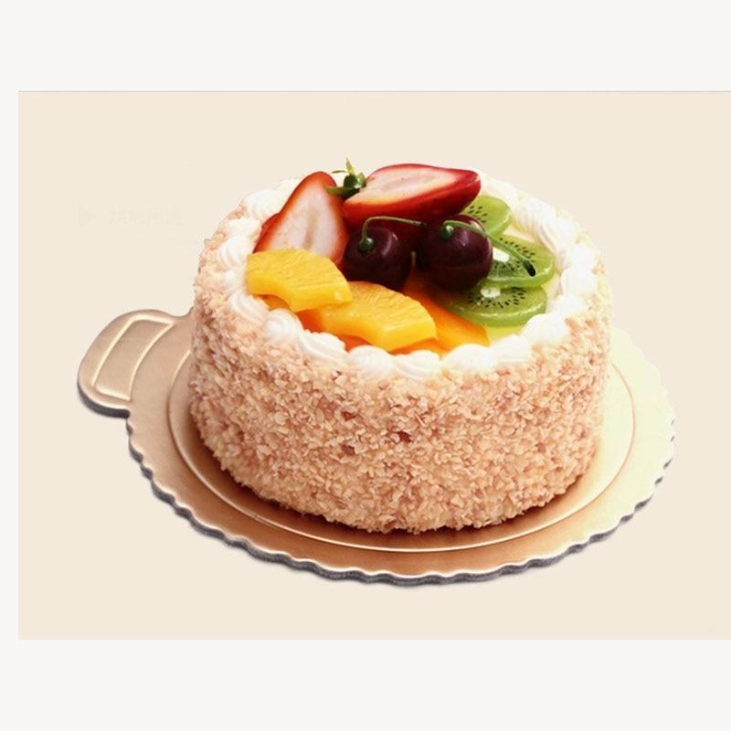 100pc Gold Round Cake Board Circle Base 4 shaped Cupcakes ...