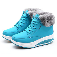 New Women Boots Winter Shoes Female Plus Velvet Swing Snow Cotton-padded Flat Ankle