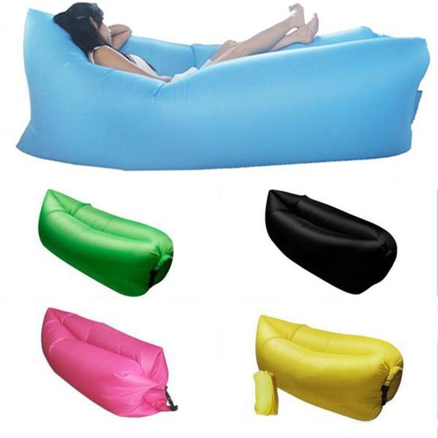 Moda Saco de Salão Sono Preguiçoso Beanbag Cadeira Do Sofá Inflável, Sala Almofada do Saco de Feijão, Beanbag Ao Ar Livre Auto Inflado móveis
