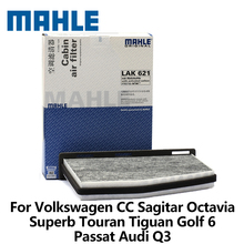 MAHLE Car Cabin Filter For Volkswagen CC Sagitar Octavia Superb Touran Tiguan Golf 6 Passat Audi Q3  LAK621 with carbo auto part