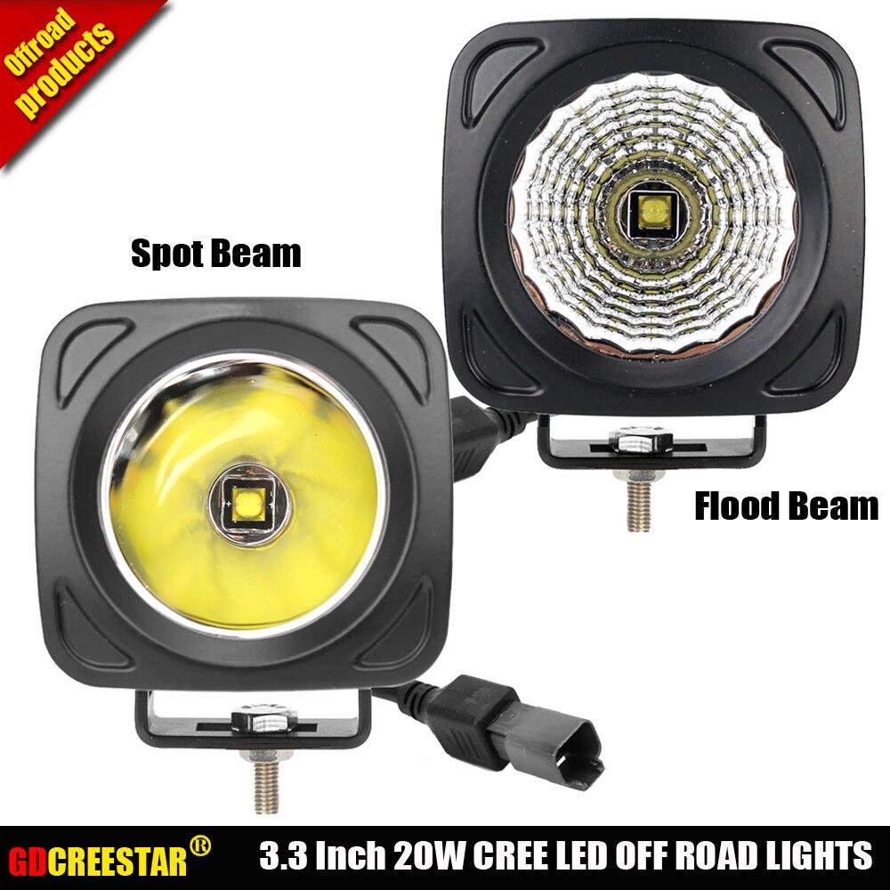 3 pouces 20 W COB Led Lampe de Travail Spot Flood lumière Crayon faisceau pour 4x4 4WD Bateau Chasse Camion Tracteur Voiture Led lumières de Conduite x1pc