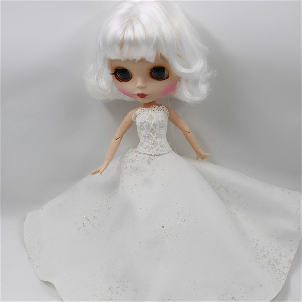 Neo Blythe Doll White Wedding Dress 3
